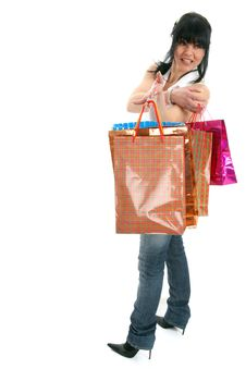 Free Shopping Lady Turning Backward Stock Photos - 8547013