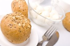 Free Bread And Mozzarella Stock Photography - 8547132