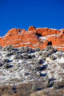 Free Garden Of The Gods In Snow Stock Photos - 8547133