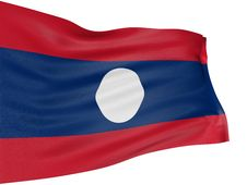 Free 3D Flag Of Laos Royalty Free Stock Photo - 8547295
