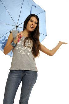 Free Girl With Umbrella Stock Photos - 8547363