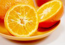 Free Saucer And Orange Stock Image - 8547531