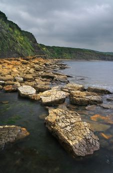 Free Kimmeridge Rocks - Dorset, England Royalty Free Stock Photos - 8547838
