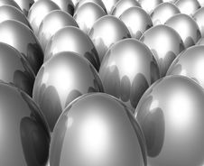 Free Silver Unique Easter Egg Stock Image - 8547971