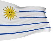 3D Uruguayan Flag Stock Photo