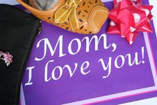 Greeting Card For Mother Royalty Free Stock Images