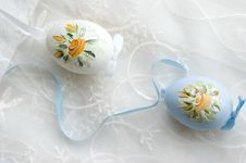 Free Traditional Easter Painted Eggs Macro Royalty Free Stock Photos - 8548248