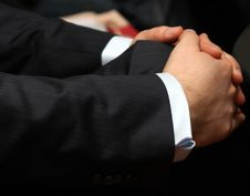 Hands Of A Businessman Royalty Free Stock Photography