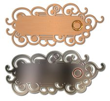 Decorative Door Bell Plaques Royalty Free Stock Photography