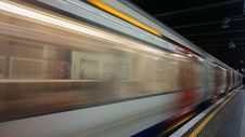 Free Blurred Motion Of Train At Railroad Station Stock Images - 85404964
