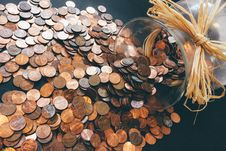 Free Penny Jar Royalty Free Stock Image - 85404996