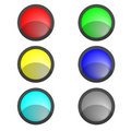 Free Six Multi-coloured Buttons Stock Images - 8550774