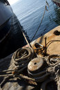 Free Boat Mooring And Rope Royalty Free Stock Photo - 8552955