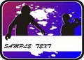 Free Background With Two Silhouettes Teenager Stock Photography - 8556062