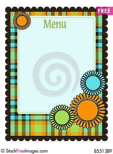 Spring Menu Template - Free Stock Photos & Images - 8551389