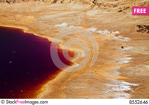 Colorful lake shore Stock Photo