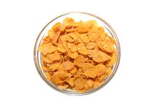 Free Bowl With Corn Flakes Royalty Free Stock Image - 8550166