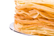 Free A Big Stack Of Pancakes Royalty Free Stock Photos - 8550178
