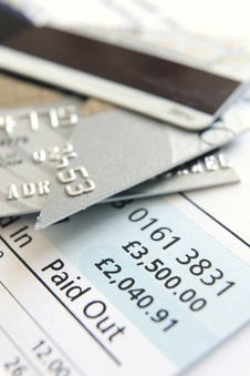 Free Cut Up Credit Card Royalty Free Stock Image - 8550306