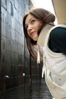 Free Girl Looking Back Royalty Free Stock Photo - 8550705