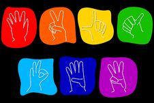 Free Hand Gestures Royalty Free Stock Photography - 8550757