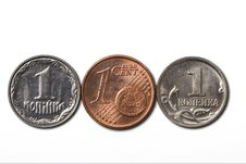 Free 3 Cheapest Coins Royalty Free Stock Photo - 8551115
