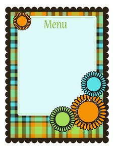 Free Spring Menu Template Royalty Free Stock Images - 8551389