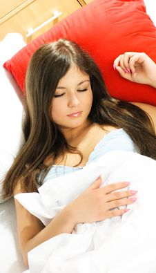 Free Beautiful Sleeping Woman Royalty Free Stock Image - 8551436