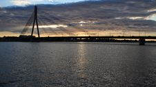 Free Riga Bridge Stock Photography - 8551602
