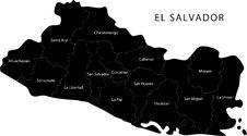 Free Vector El Salvador Map Royalty Free Stock Image - 8551776