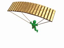 Free Gold Parachute Royalty Free Stock Image - 8551946