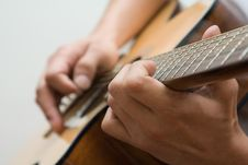 Free Playing The Guitar Royalty Free Stock Photo - 8552015