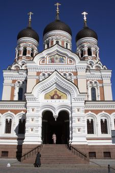 Facade Of The Orthodox Church Royalty Free Stock Photography