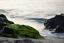 Free Long Exposure On Shore Royalty Free Stock Photos - 8552508