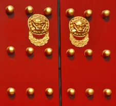 Free Traditional Chinese Door Royalty Free Stock Images - 8553649