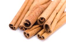 Free Cinnamon Sticks On White - Tight Depth Of Field Stock Photo - 8554040