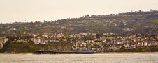 Free San Clemente Pier Taken From The Water Royalty Free Stock Photo - 8554535