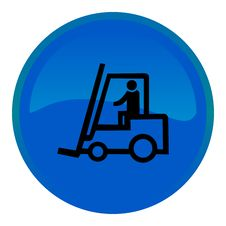 Free Web Button - Forklift Truck Stock Images - 8554844
