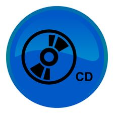Free Compact Disc Web Button Stock Photography - 8554882