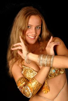 Free Bellydancer Royalty Free Stock Photography - 8555927