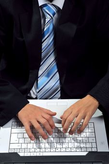 Free Computer Typing Stock Photography - 8556592