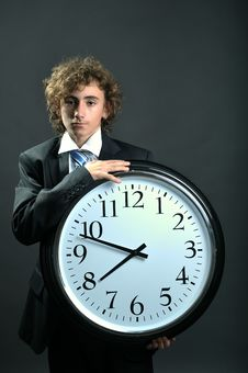 Free Businessman And Clock Stock Images - 8556594