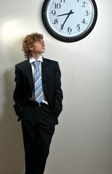 Free Businessman And Clock Stock Photos - 8556613