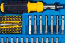 Free Screw Driver Tool Set Royalty Free Stock Photography - 8556987