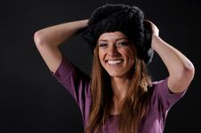 Free Woman In A Fancy Russian Hat Royalty Free Stock Photo - 8557135
