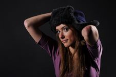 Free Woman In A Fancy Russian Hat Stock Image - 8557151