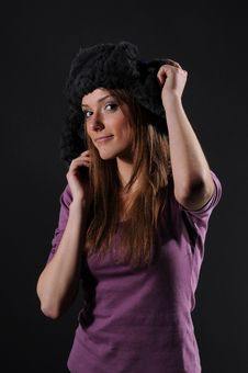 Free Woman In A Fancy Russian Hat Royalty Free Stock Photo - 8557225