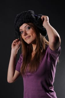 Free Woman In A Fancy Russian Hat Stock Photos - 8557233