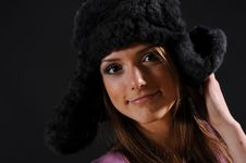 Free Woman In A Fancy Russian Hat Royalty Free Stock Photography - 8557307