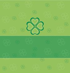 Card With Clover Stock Photos